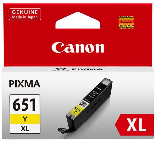 Canon Ink Cartridge CLI651XLYOCN Yellow Chromalife - pr_427578