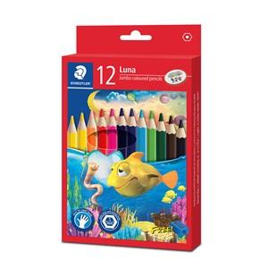 Staedtler Luna Jumbo Coloured Pencil 12pk