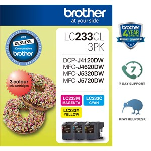 Brother LC233CL3PK Colour Ink Cartridge 3 Pack