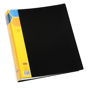 Marbig Display Book Insert Spine A4 20 Pockets Black