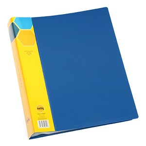 Marbig Display Book Insert Spine A4 20 Pockets Blue