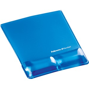 Fellowes Gel Wrist Support Mouse Pad Blue