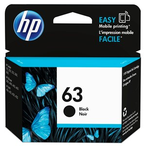 HP Ink Cartridge F6U62AA 63 Black