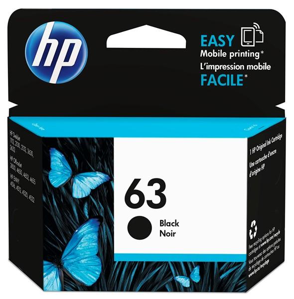 HP Ink Cartridge F6U62AA 63 Black - pr_427632