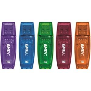 Emtec USB Flash Drive 16GB C410 Assorted Colours