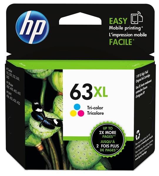 HP Ink Cartridge F6U63AA 63XL Tri-Colour High Capacity - pr_427635