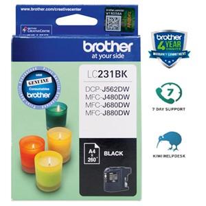 Brother LC231BK Black Ink Cartridge