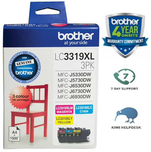 Brother Ink Cartridge  LC3319XL3PK 3 Pack High Capacity - pr_1702590