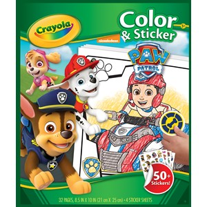 Crayola Color & Sticker Book - Paw Patrol
