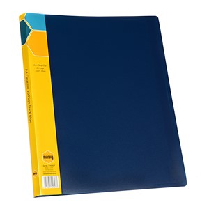 Marbig Display Book Insert Spine A4 20 Pockets Dark Blue