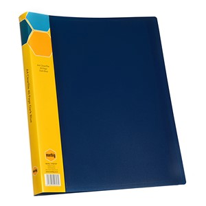 Marbig Display Book Insert Spine A4 40 Pockets Dark Blue