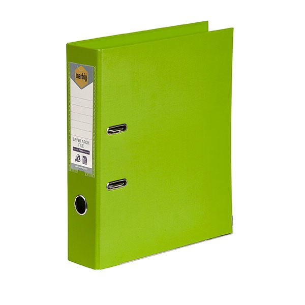 Marbig PE Lever Arch File A4 Lime - pr_1702056