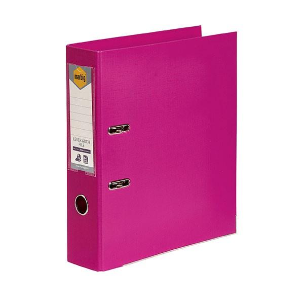 Marbig PE Lever Arch File A4 Pink - pr_1702313