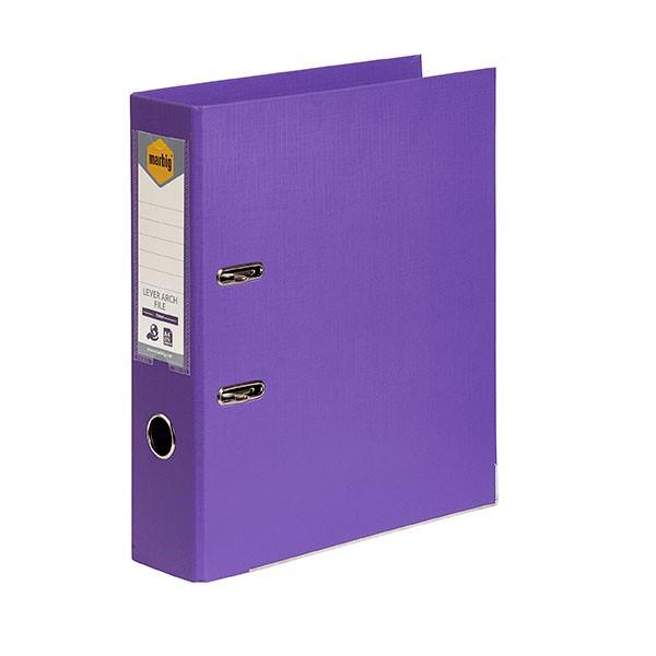 Marbig PE Lever Arch File A4 Purple - pr_1702788