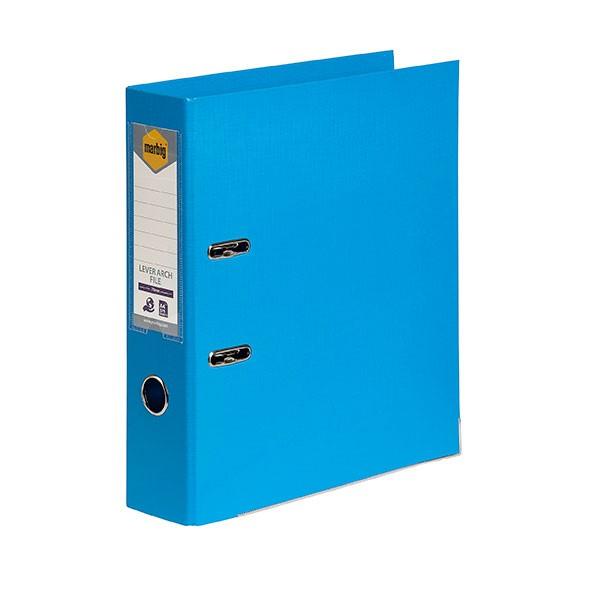Marbig PE Lever Arch File A4 Sky Blue - pr_1702173