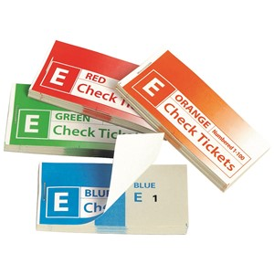 Marbig Check Tickets 100 Sheets Assorted, Pack of 4