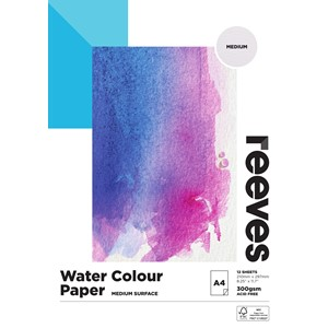 Reeves Watercolour Pad 300gsm A4 Cold Pressed 12 Sheets