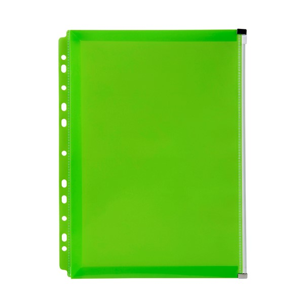 Marbig Zip Binder Wallet A4 Lime - pr_1702278