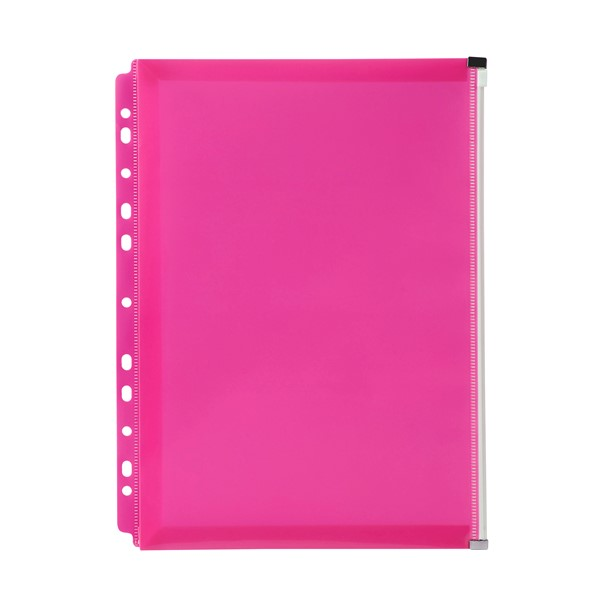 Marbig Zip Binder Wallet A4 Pink - pr_1702012