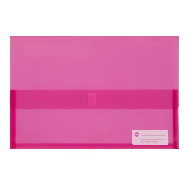 Marbig Polypick Foolscap Document Wallet Pink - pr_1702655