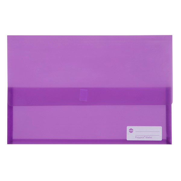 Marbig Polypick Foolscap Document Wallet Purple - pr_1702006