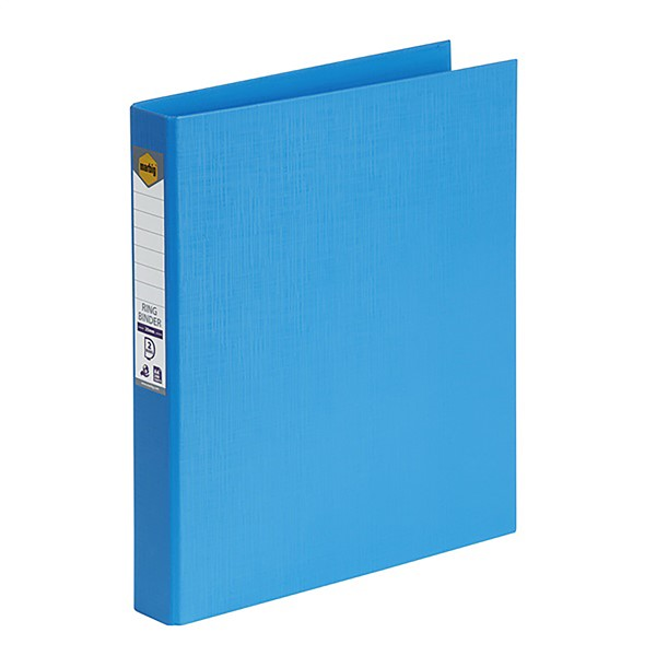 Marbig Ringbinder A4 PE 2D Ring 25mm Sky Blue - pr_1702227