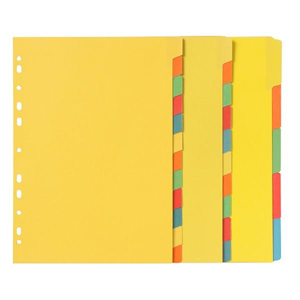 Marbig Erasable Manilla Dividers A4 5 Tab Multi-Coloured - pr_1702435