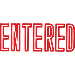XStamper VX-B 1021 Entered Red