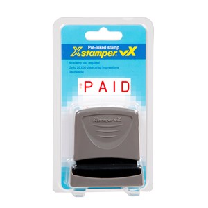 XStamper VX-B 1115 Paid Solid Red