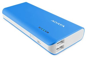 Adata PT100 Portable Power Bank with Flashlight Blue/White