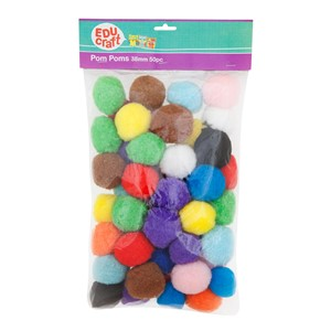 Educraft Pom Pom Large 38mm 50 Pack