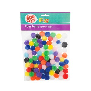 Educraft Pom Pom Small 15mm 100 Pack