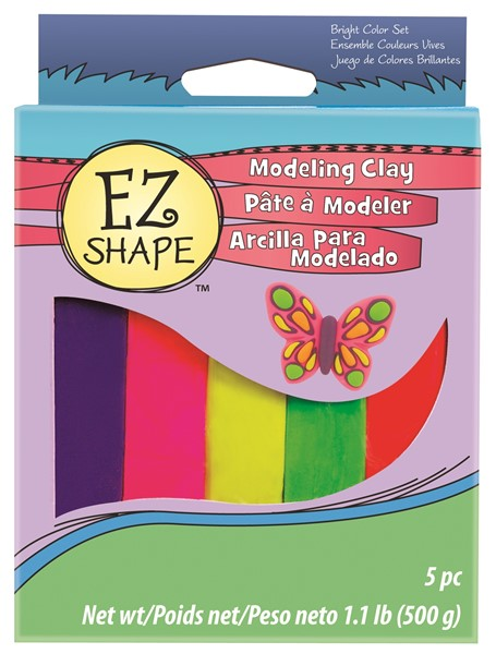 EZ Shape Modeling Clay Set 5 Bright Colour - pr_1702601