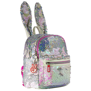 Moki Catch Me Bunny School Bag Pink