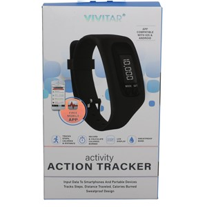 Vivitar Bluetooth Activity Tracker - Black