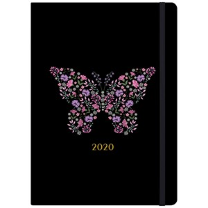 Collins 2020 Diary A51 Night Garden Butterfly