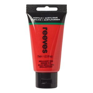 Reeves Paint Acrylic 75ml Brilliant Red