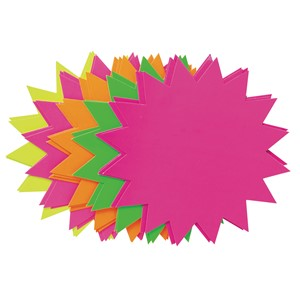 Fluoro Stars 203mm Assorted Pack 20
