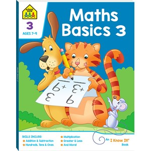 School Zone Maths Basics 3 I Know It Book