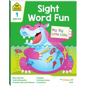 School Zone Sight Word Fun I Know It Book